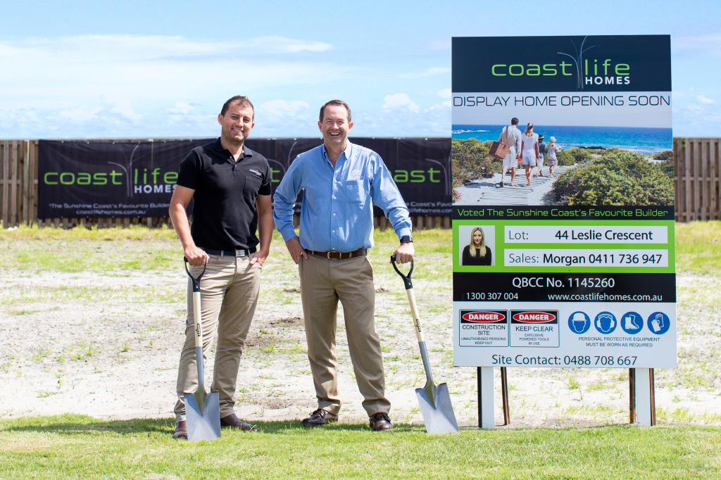 Local MP Andrew Wallace and Coast Life Homes General Manager Scott MacDonald
